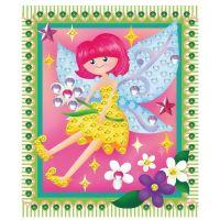 Anděl Mozaika se třpytivými flitry holčičí 20,5 x 17 cm Víla