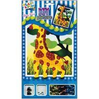 Anděl Mozaika se třpytivými flitry zvířátka 20,5 x 17 cm Žirafa