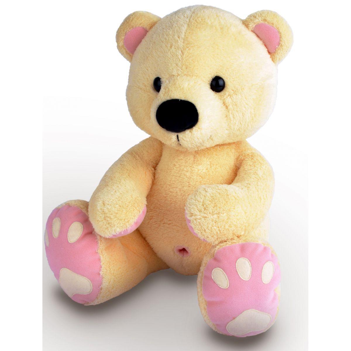 MÚ Brno Medvěd Pupík 60 cm Béžovo růžový