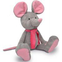 MÚ Brno Myška Alfi 65 cm šedorůžová