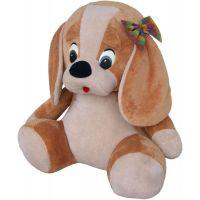 MÚ Brno Pes s mašlí 70 cm béžový