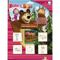 Multiprint Máša a medvěd razítka 5ks