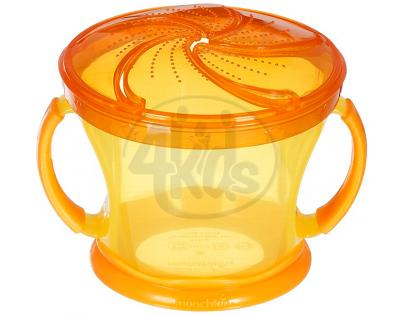 Svačinkový hrneček Munchkin - Oranžové víčko