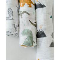 Little Unicorn Mušelínová zavinovací plena 120 x 120 cm 3ks Dino Friends 5