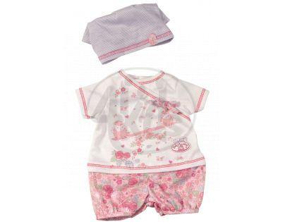 My First Baby Annabell Oblečení na doma - Bílá s kytičkami