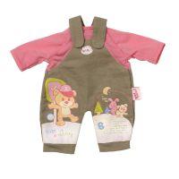 My Little Baby Born Jednodílné oblečení - Hnědo-růžová