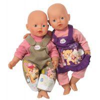My Little Baby Born Jednodílné oblečení - Hnědo-růžová 3