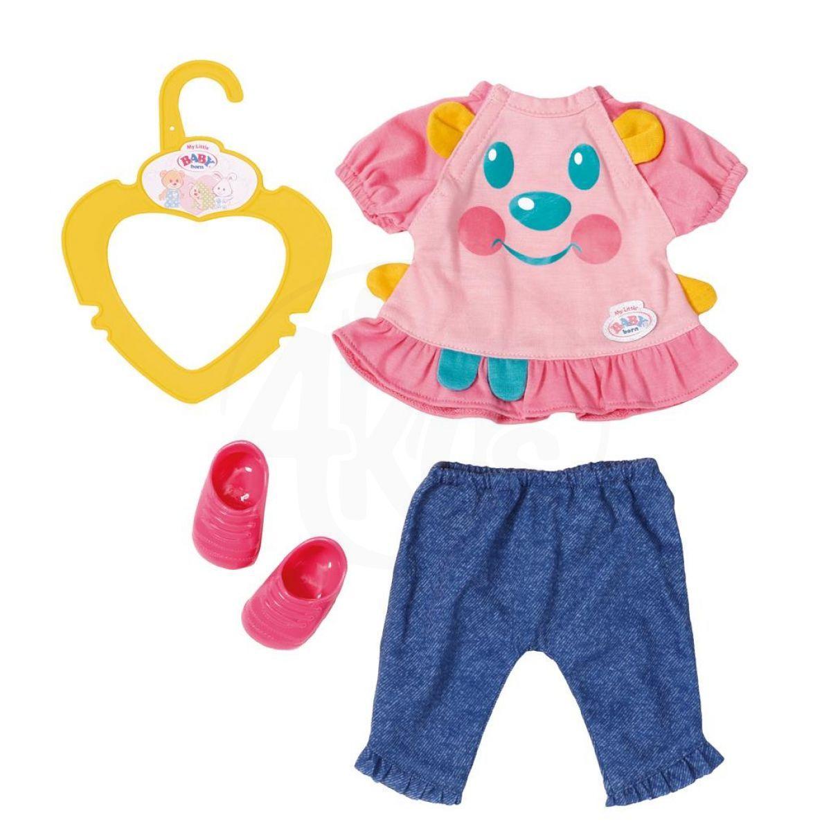 My little Baby Born Roztomilé oblečení Modré kalhoty s botičkami