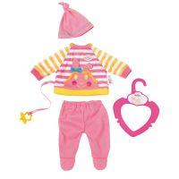 My little Baby Born Roztomilé oblečení Pruhované tričko s dudlíkem