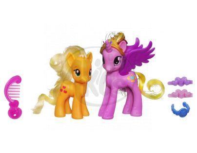My Little Pony Princezna s kamarádkou a doplňky - Cadance a Applejack