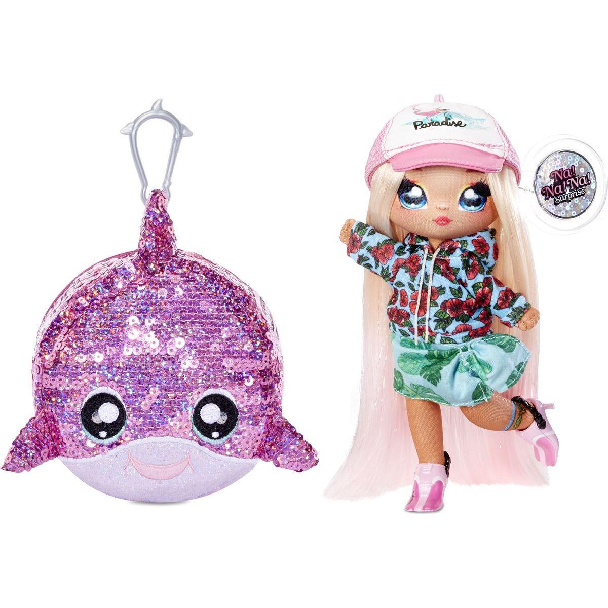 Na! Na! Na! Surprise Panenka ve třpytkovém zvířátku 2v1 Sparkle Dolphin