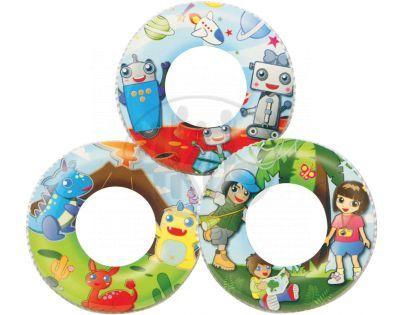 Bestway 53-36014 - Nafukovací kruh 61cm, 5-10 let dětské motivy