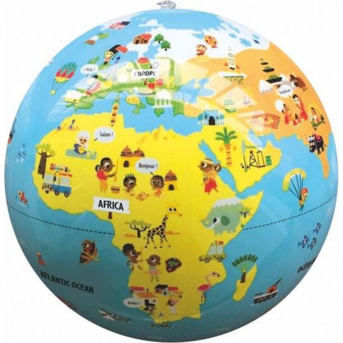 Caly Nafukovací globus Malý cestovatel 30 cm