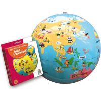 Caly Nafukovací globus Malý cestovatel 30 cm 2