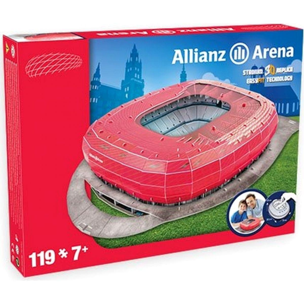 Nanostad 3D Puzzle Allianz Arena Bayern Mnichov