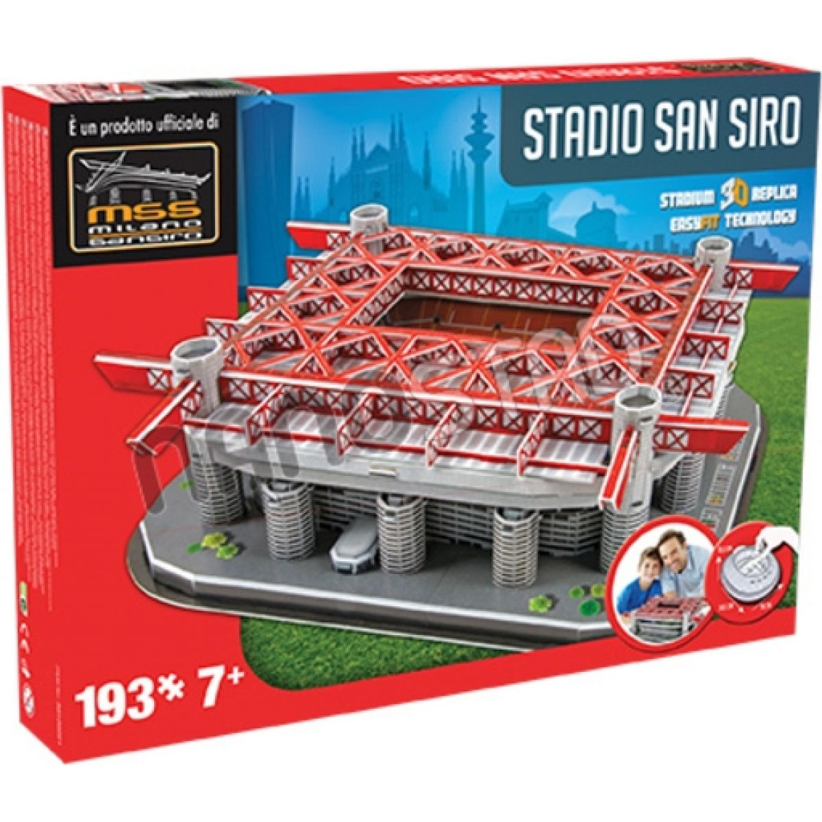 Nanostad 3D Puzzle San Siro Milans packaging