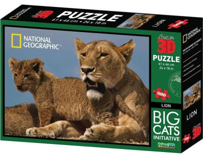 National Geographic 3D Puzzle Lvi 500 dílků