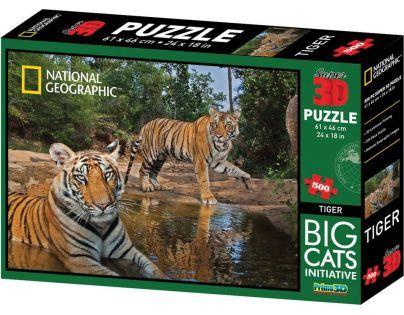 Prime 3D National Geographic Puzzle Tygři 500 dílků