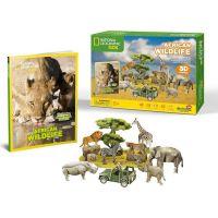HM Studio Puzzle 3D Africká divočina NG- 69 dílků