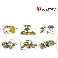 HM Studio Puzzle 3D Africká divočina NG- 69 dílků 2