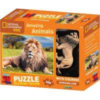 National Geographic Kids 3D Puzzle Lev 100 dílků figurka
