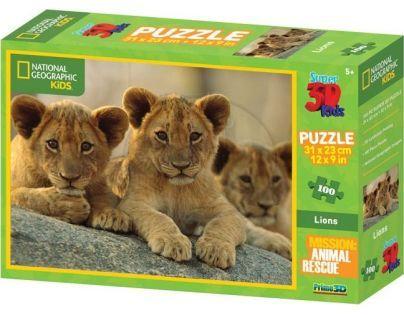 Prime 3D National Geographic Kids Puzzle Lvi 100 dílků