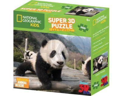 Prime 3D National Geographic Kids Puzzle Panda 100 dílků