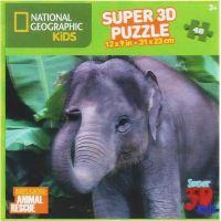 Prime 3D National Geographic Kids 3D Puzzle Slon 48 dílků