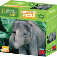 Prime 3D National Geographic Kids 3D Puzzle Slon 48 dílků 2