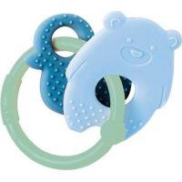 Nattou Kousátko silikonové Lapidou medvídek modrý