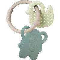 Nattou Kousátko silikonové Lapidou sloník zelený