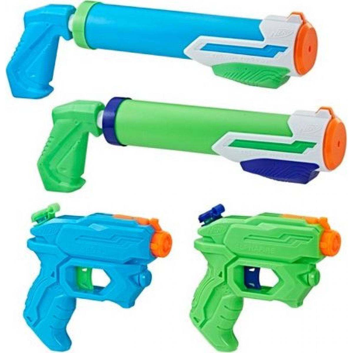 Nerf SuperSoaker Floodt ic 4 ks blástrů