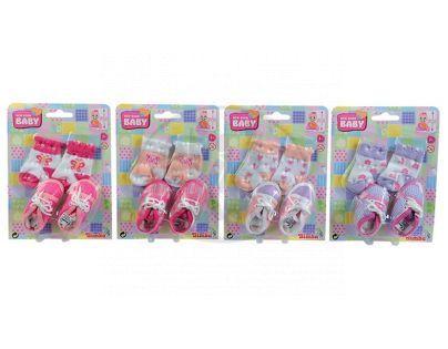 New Born Baby Ponožky a botičky pro panenky - Poškozený obal