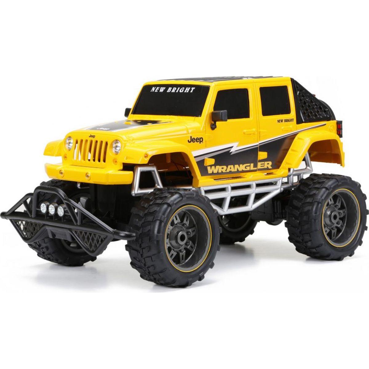 New Bright RC auto Džíp 1:8 - Žlutá