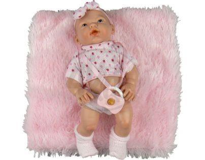 Ninis Golosinas holčička v růžovém úpletu s polštářkem 26 cm