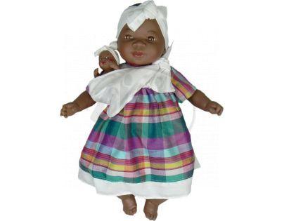 Nines Maha Con Bebe 45 cm - Pruhované šaty