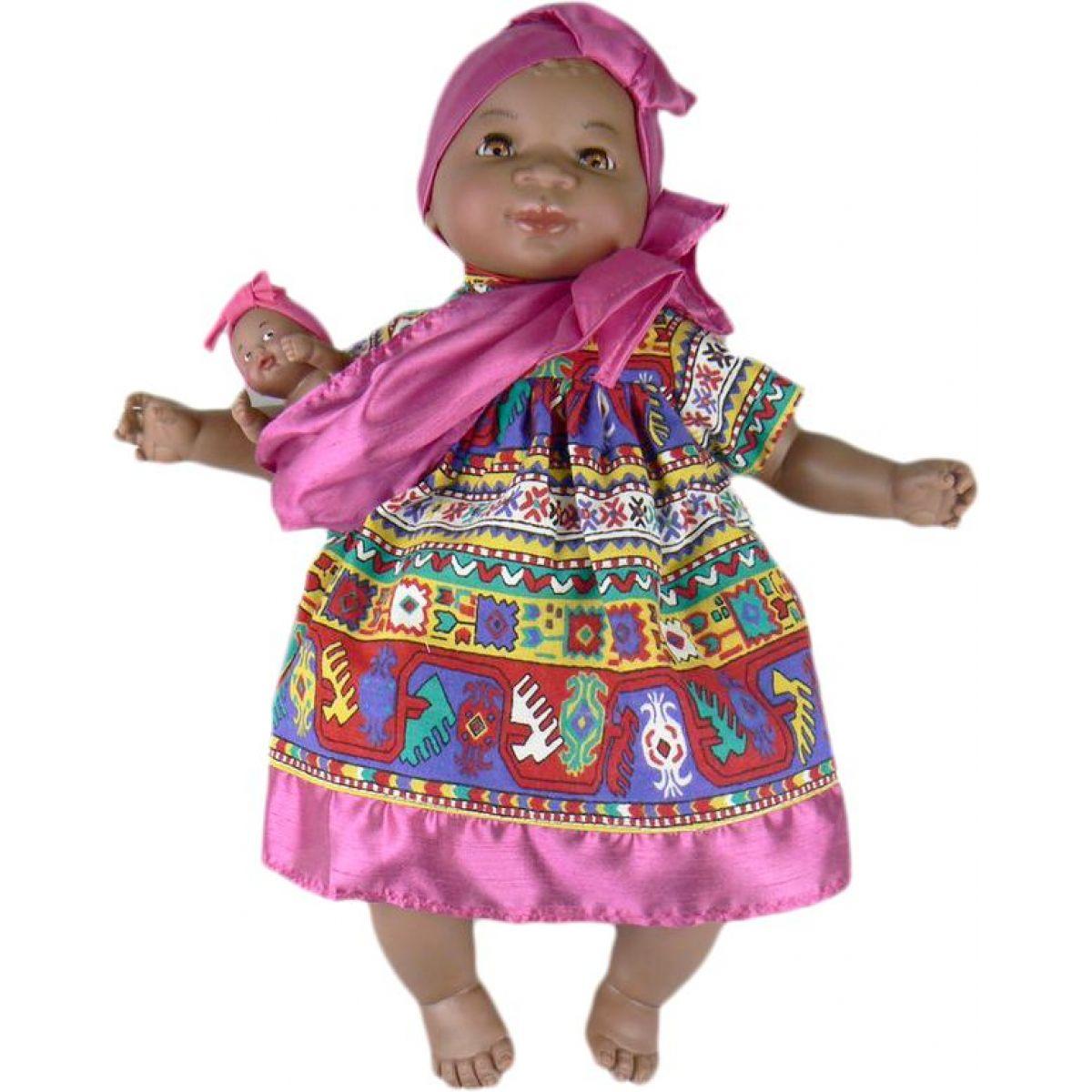 Nines Maha Con Bebe 45 cm - Růžové s ornamenty