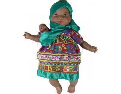 Nines Maha Con Bebe 45 cm - Zelené se vzorem