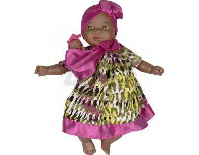 Nines Maha Con Bebe 45 cm - Zelenožluté šaty