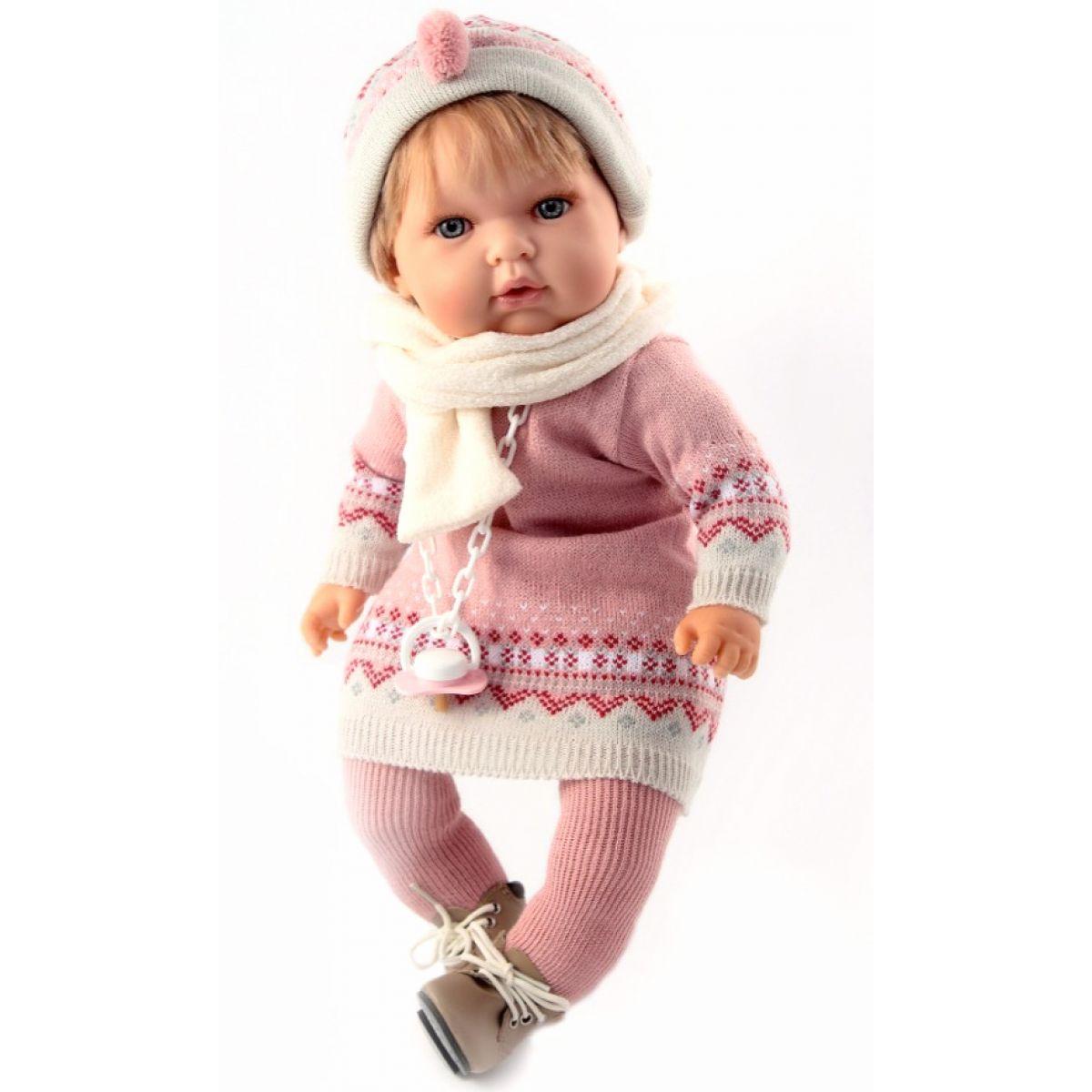Nines 31082 - Tita Mechanická blondýnka v růžovém zimním oblečení