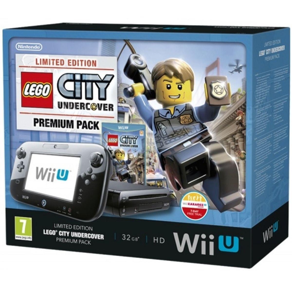 Nintendo Wii U Black Premium Pack (32GB) + LEGO City Undercover