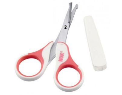 Nuk Dětské zdravotní nůžky s krytem - Růžové