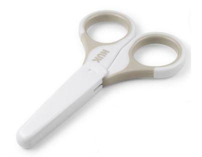 Nuk Dětské zdravotní nůžky s krytem - Šedé