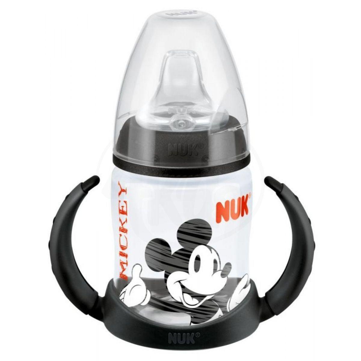 Nuk Disney Mickey Láhev na učení 150 ml - černá