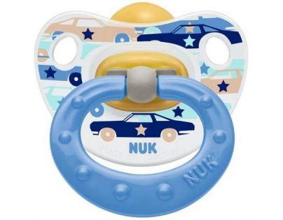 Nuk Dudlík Classic Happy Kids 0-6m - Modrý auta