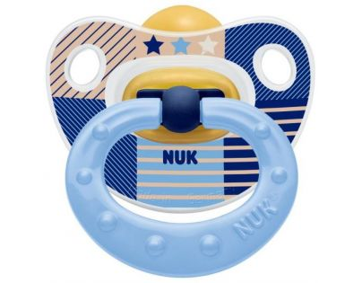 Nuk Dudlík Classic Happy Kids 0-6m - Modrý pruhy