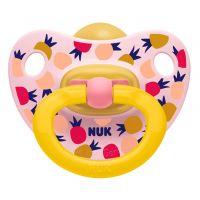 NUK Dudlík Classic Happy Kids, LA, ,V3 18m+ ananas růžový