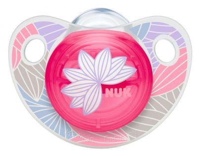 Nuk Dudlík Trendline Adore Latex 0-6 měsíců - Růžová kytka