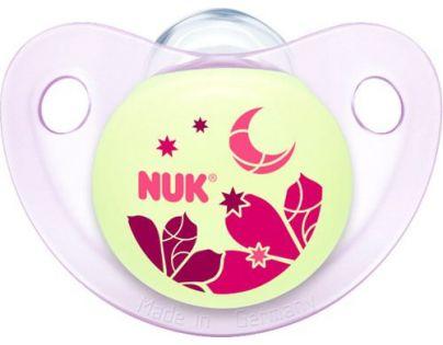Nuk Dudlík Trendline Den a Noc silikon 6-18m - Květina