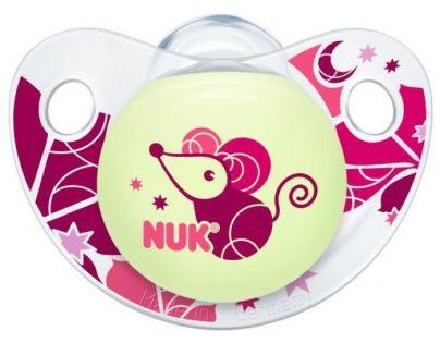 Nuk Dudlík Trendline Den/Noc latex 6-18m - Myška